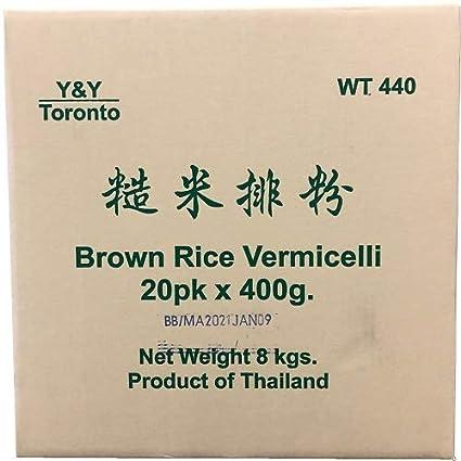 Y&Y WT440W Brown Rice Vermicelli, 8-Kilogram: Amazon ca: Grocery