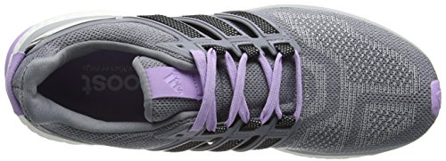 adidas Damen Energy Boost 3 Laufschuhe Grey (Clear Onix/Core Black/Purple Glow S16)