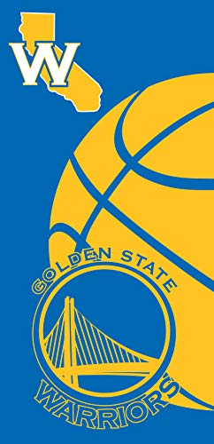 Golden State Warriors Large Beach Towel 28 in x 58 in - Officially Licensed Northwest NBA