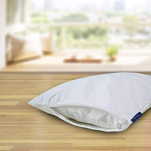 2-Pack Zippered Pillow Protectors, Hypoallergenic Waterproof Pillow Covers Breathable Cooling Pillowcases for Maximum Comfort 20 x 26