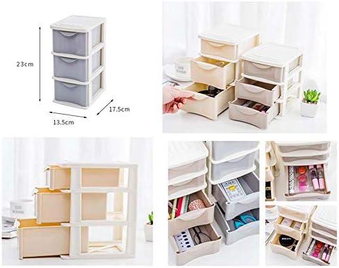 Büro Kunststoff Desktop Aufbewahrungsbox Schubladen Organizer, Grau 01