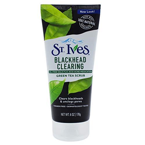 St. Ives Blackhead Clearing Face Scrub, Green Tea, 6 oz (St Ives Blemish Control Green Tea Gel Cleanser)