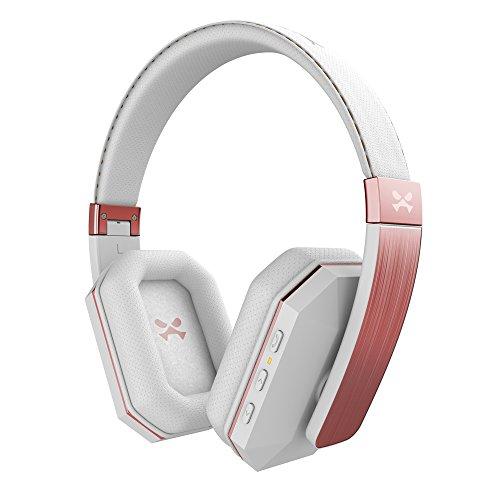 Free Hands Headset White (Ghostek soDrop 2 Wireless Headphones Bluetooth 4.0 Over Ear Hands-Free Headset | White & Rose)