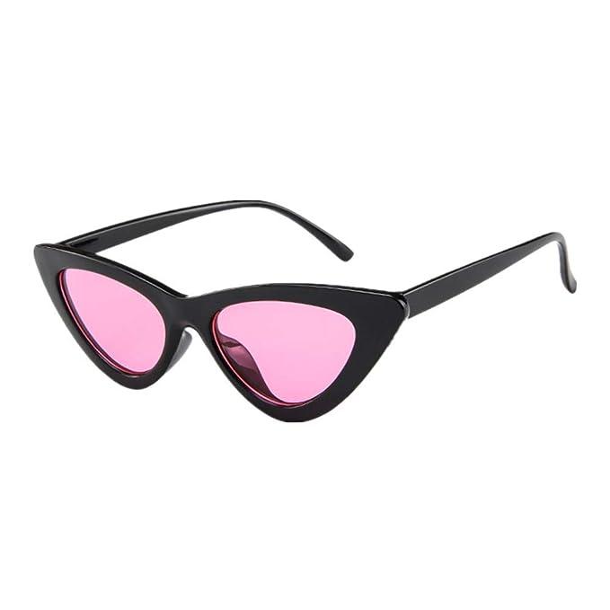 2a1eac1be9d374 Makefortune Frauen Sonnenbrillen, Frauen-Weinlese-Katzenaugen-Sonnenbrille-Retro-  kleiner Rahmen