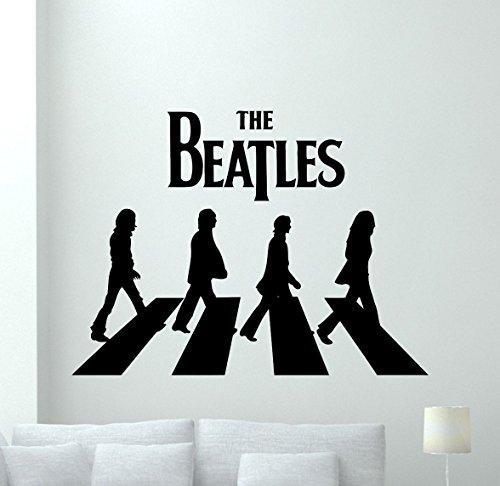 The Beatles Wall Decal Rock Music Band Vinyl Sticker Music Studio Decal Rock Wall Art Design Housewares Teens Room Nursery Bedroom Decor Removable Wall Mural 17sss (Beatles Decals Wall)