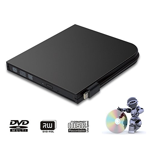 DVD Drive for PC DVD Drive computer CD Drive external dvd-rom player type-c external CD+/-RW buener USB portable DVD/CD ROM reader for various brands of desktops and laptops(not including tablets) by Juanery (Image #7)'