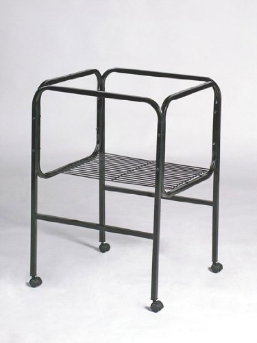 Prevue Hendryx Pet Products BPV445 Bird Cage Stand with Castors for 16-Inch Diameter Base Cages, Black/White 480022