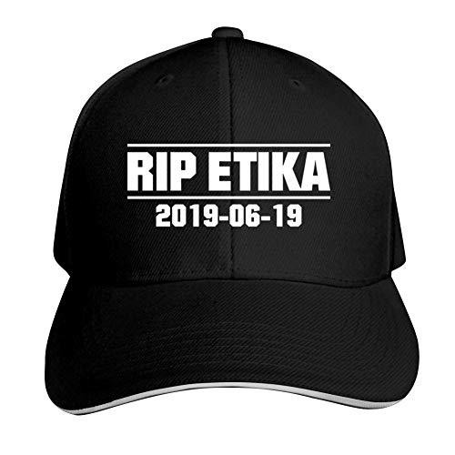 (Oiguio Rip Etika Unisex Classic Cotton Adjustable Hip hop Baseball Cap Black)