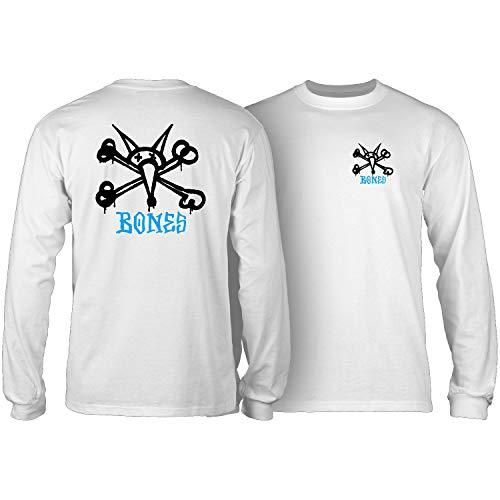 Powell-Peralta Skateboard Long Sleeve Shirt Rat Bones White Size L -  CTLPPVATW