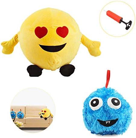 deAO Peluches Emoticonos Inflables Conjunto de Dos Muñecos Peludos ...