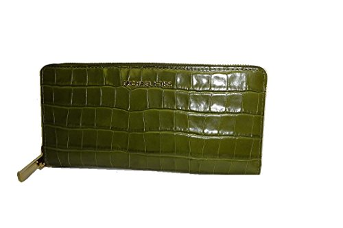 Michael Kors Continental Leather Wallet Olive Croco Embossed New by Michael Kors
