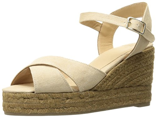 Castaner Women's Blaudell Platform Sandal, Nude (Beige), 37 EU/6.5 N US by Castaner