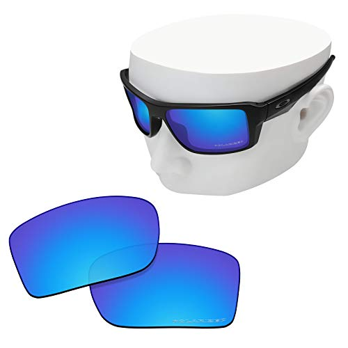 OOWLIT Replacement Lenses Compatible with Oakley Double Edge Sunglass Ice Combine8 Polarized