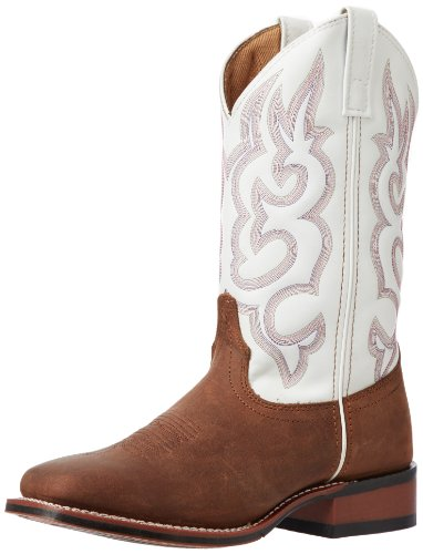 Laredo Women's Mesquite Western Boot, Taupe/White, 10 M - Collection Toe Stockman