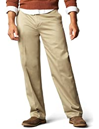 Men's Signature Khaki Big and Tall Flat Front Pant