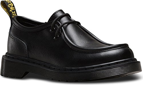 Dr Martens Juniors Schwarz Hambleton Moc Toe Schuhe Black