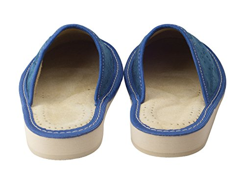 aveego - Zapatillas de estar por casa de Otra Piel para mujer Blue (Suede)