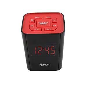 Tokai TC135KR - Radio despertador, color rojo (importado)
