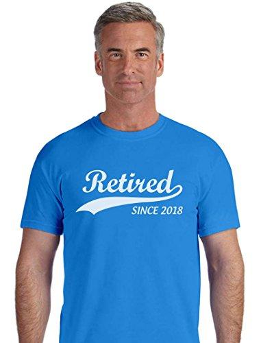 Tstars Retired Since 2018 - Retirement Gift Idea T-Shirt X-Large Aqua