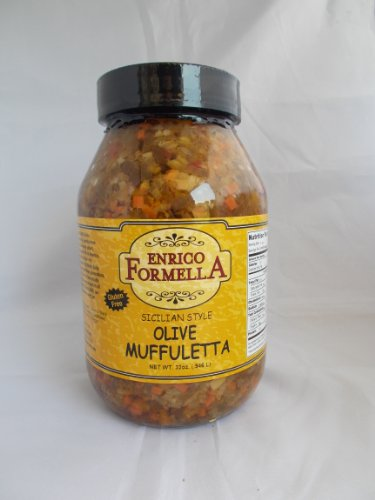 New Orleans Salad (Enrico Formella | Hot & Spicy Muffaletta Olive Salad | Italian - New Orleans Style Olive Spread (32. oz))