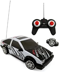 4WD R/C Drift King Rc Car Electric Sports Racing Car Remote Control Drifting Race Car 1:24 + Headlights, Backlights, Side Lights, Spare Tires