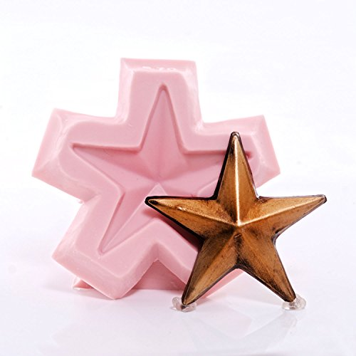 Silicone Mold Lone Star Food Safe Chocolate, Fondant, Candy, Soap, Resin, Clay, Wax Flexible and Easy to Use