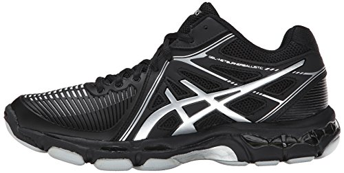 ASICS Women's Gel Netburner Ballistic MT Volleyball Shoe, Black/Silver, 7 M US by ASICS (Image #5)