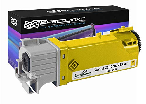 (Speedy Inks Compatible Toner Cartridge Replacement for Dell 2130cn / 2135cn High Yield (Yellow))