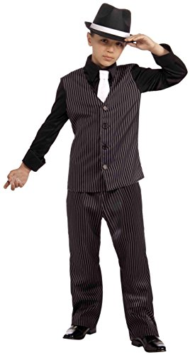 Dead Gangster Halloween Costumes (Forum Novelties 20's Lil' Gangster Child Costume,)