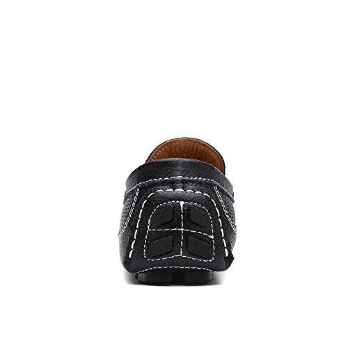 Mocasines Salabobo casuales de Mocasines para transpirables Negro Agujeros QYY hombre Mocasines con 1719 Nuevo estilo conducción f7fWrq