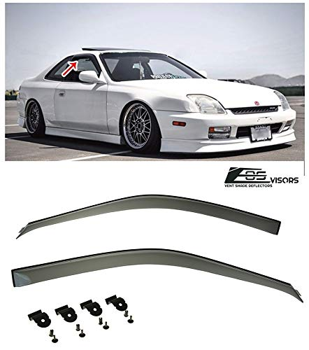 Extreme Online Store for 1997-2001 Honda Prelude 2Dr Coupe | EOS Visors JDM Clip-ON Style Smoke Tinted Side Window Visors Rain Guard Deflectors BB5 BB6 BB7 BB8 BB9 Type SH -