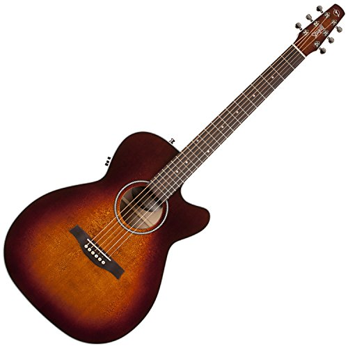 Seagull 041824 Performer Cutaway Concert Hall QIT Burnt Umber Acoustic Electric - Gull Sea Cutaway Guitar