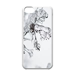 Frozen Twigs IPhone 5C Cases, Case for Iphone 5c for Girls Cute Okaycosama - White