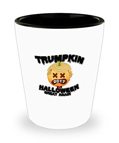 Shot Glass Pumpkin Trumpkin 2017 Make Halloween Great Again Gift Glass shot ()