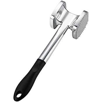 Meat Tenderizer Mallet Kitchen Meat Pounder mallet for Pounding and Tenderizing Meats, Heavy Duty Large Size.