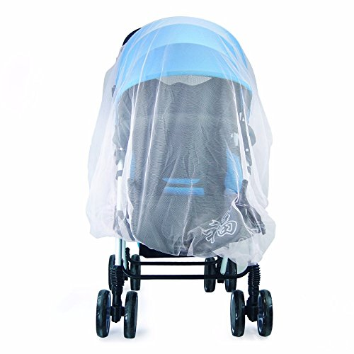 (Anytec Infant Baby Mosquito Mesh Insect Bug Netting Buggy Cover Fly Screen Netting Provides Complete Children Protection (White) )