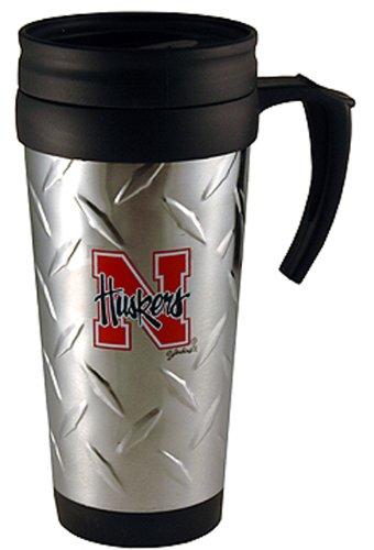 NCAA Nebraska Cornhuskers Stainless Steel Diamond Plate Mug