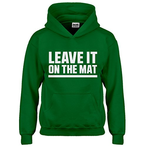 Indica Plateau Kids Hoodie Leave it on The Mat Large Kelly Green Hoodie
