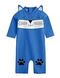 Vaenait Baby 0-24M Baby Boys Swimsuit Rashguard Swimwear Watercat Blue