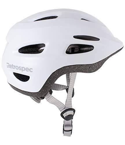 Retrospec Scout-1 Bike & Skate Helmet CPSC Approved Ages 1-10, Matte White, S 49-53cm