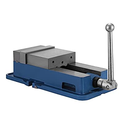 Mophorn Precision Milling Vise 6 Inch ACCU Lock Vise with 6 Inch Jaw Width Milling Drilling Machine Lock Down Vise Bench Clamp Clamping Vice Without Base