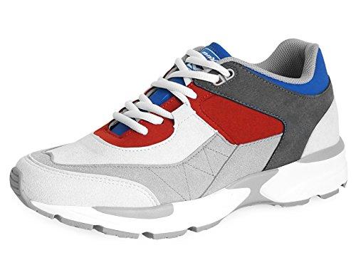 MNX15 Mens Elevator Shoes Height Increase 2.4 ACE GRAY Wedge Sneakers High Heel Sneakers Gray