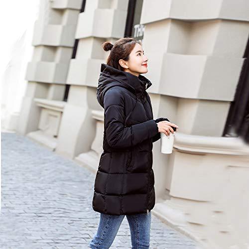 Capucha Invierno Mujer Caliente Negro Impermeable ZARLLE Invierno Abrigo de Ultra Acolchado Elegante Abrigo con wx7FxP5qZ