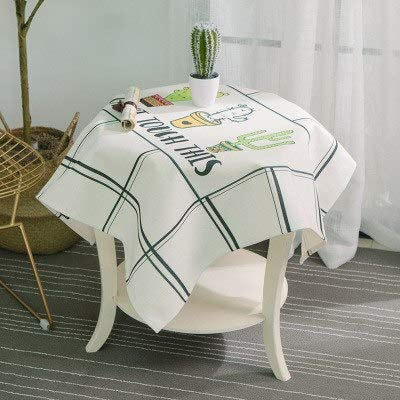 2019 New Rectangle Green Plant Tablecloth Leaves Cactus Printed Table Cover Dust Proof Thick Table Cloth Home Kitchen Decoration  D B07S9B879K