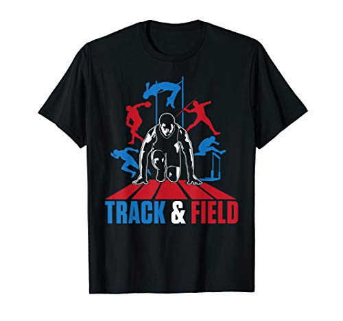 Cute Track And Field Athletics T-Shirt For Boys And Girls
