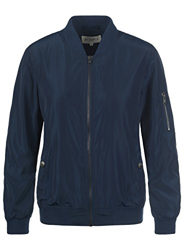 Bomber Desires with Flight Jacket 1991 Temari Funnel Blue Jacket Neck Women's Insignia wIqwxErY4