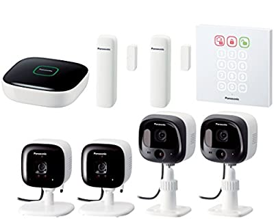 Panasonic KX-HN6091W Smart Home Monitoring System Starter Kit for Small Business (White)
