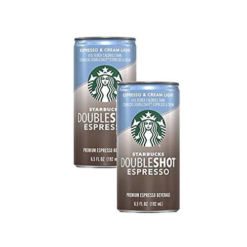 Starbucks Doubleshot Espresso & Cream Light Beverage - 6.5 fl oz cans (Pack of 2)