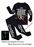 Family Feeling Halloween Skeleton Little Boys Girls Pajamas Sets 100% Cotton Clothes Costumes Toddler Kids Pjs Size 5