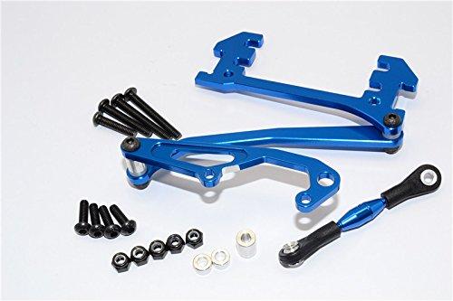 Axial SCX10 Upgrade Parts Aluminum Servo Mount With Panhard Bar - 1 Set Blue (Servo Aluminum Blue Mounts)